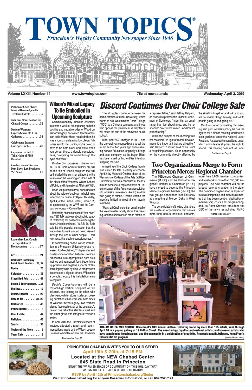 Town Topics Newspaper, April 3 by Witherspoon Media Group
