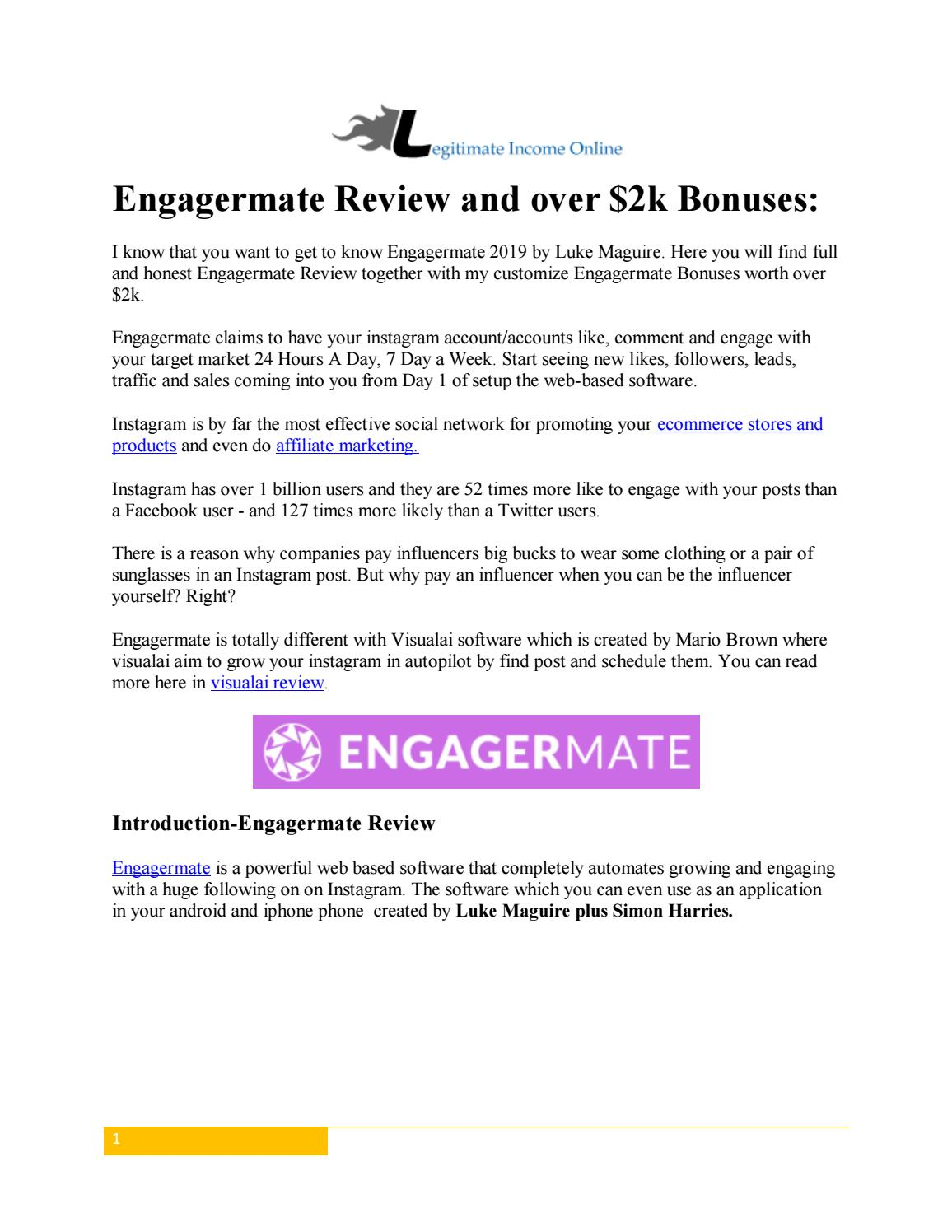 Engagermate Review By Luke Maguire and over $2k Bonuses-Instagram