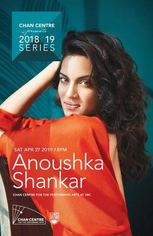 Anoushka Shankar program by Chan Centre for the Performing