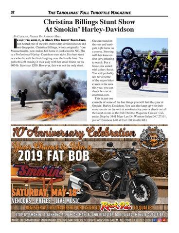 0a3c375b May 2019 - Issue 250 by The Carolinas' Full Throttle Magazine - issuu