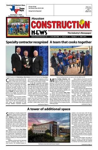 Houston Construction News May 2019 By Construction News Ltd Issuu