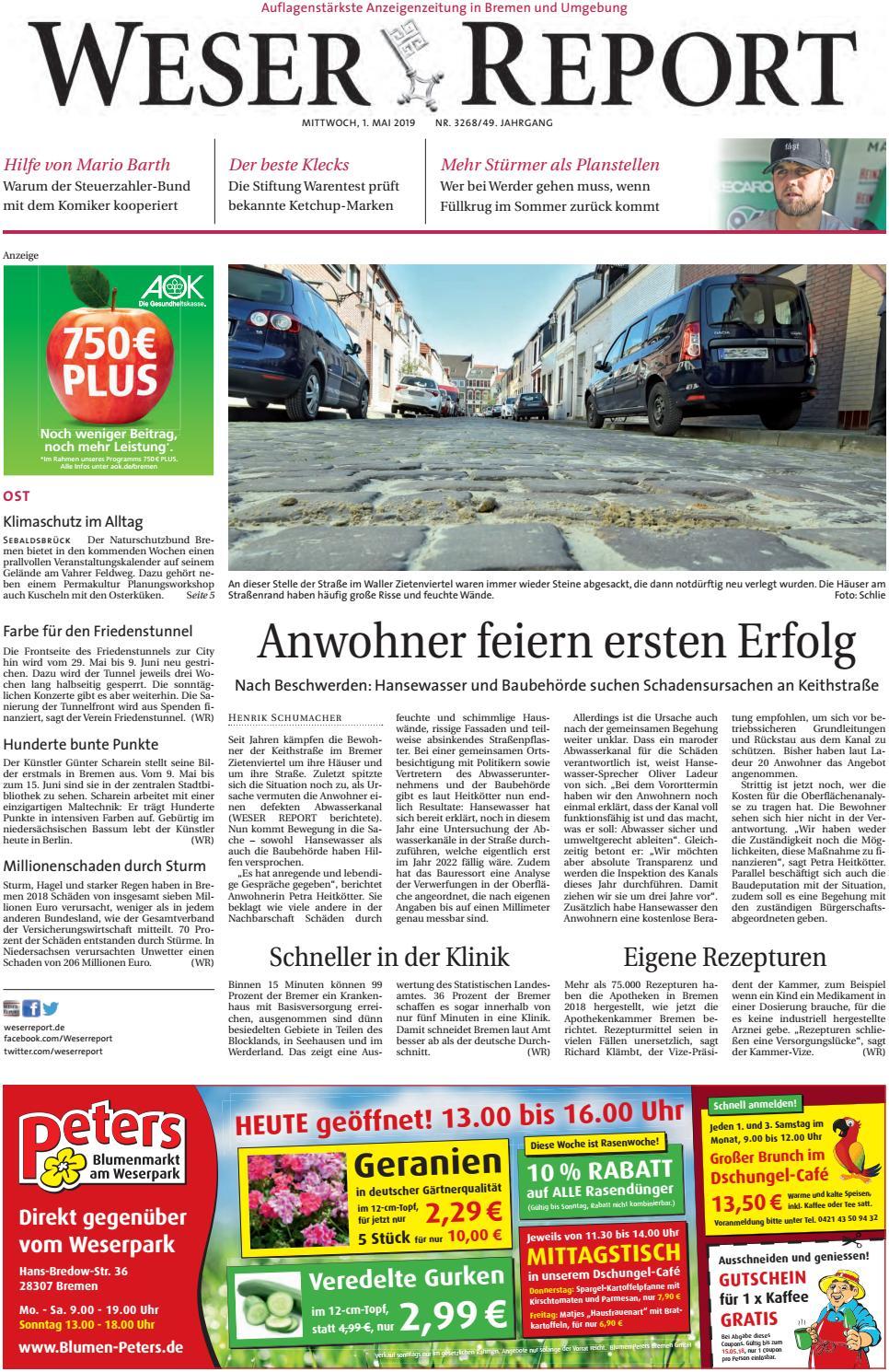 Weser Report Ost vom 01.05.2019 by KPS Verlagsgesellschaft