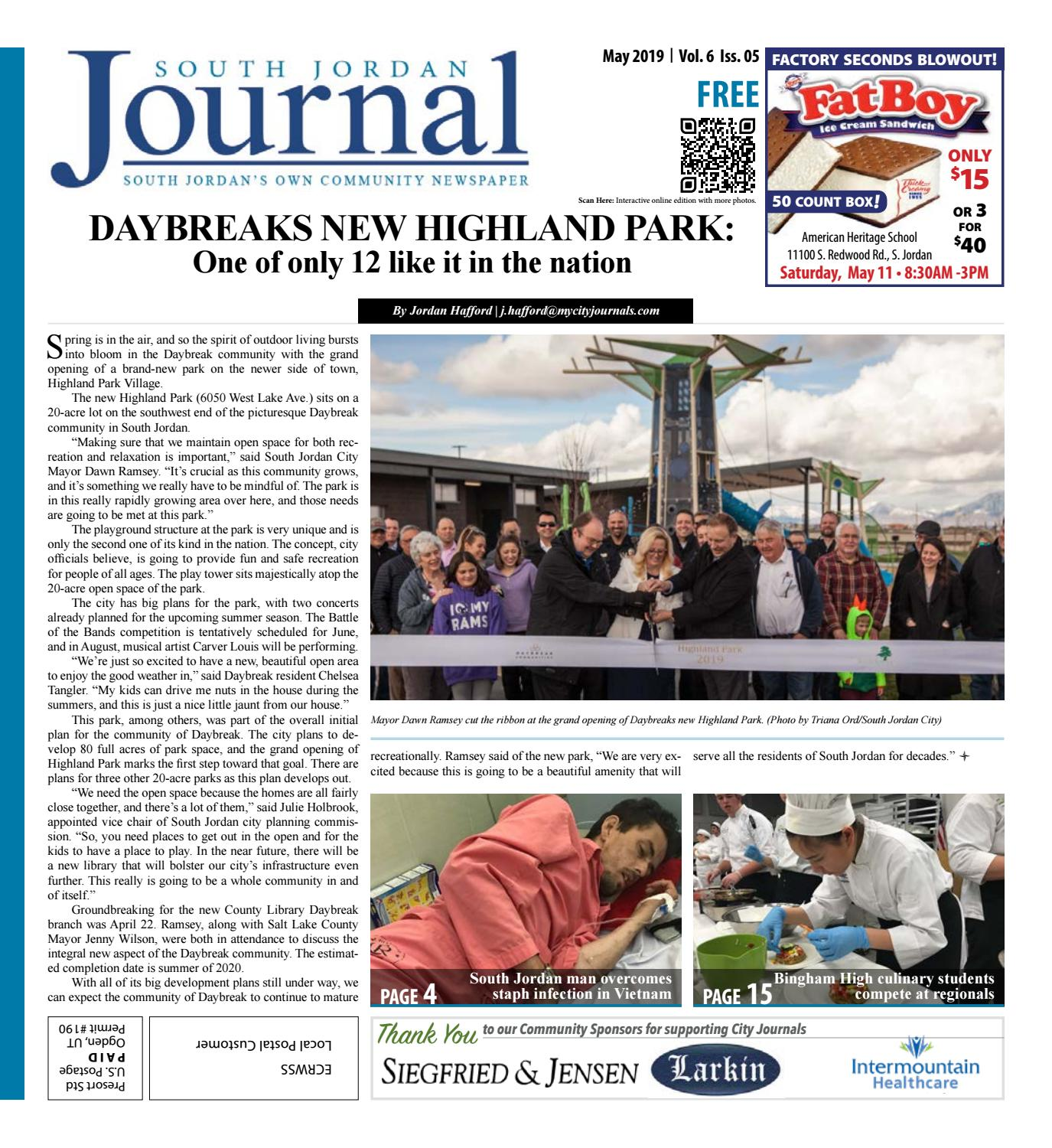 South Jordan Journal May 2019 by The City Journals - issuu