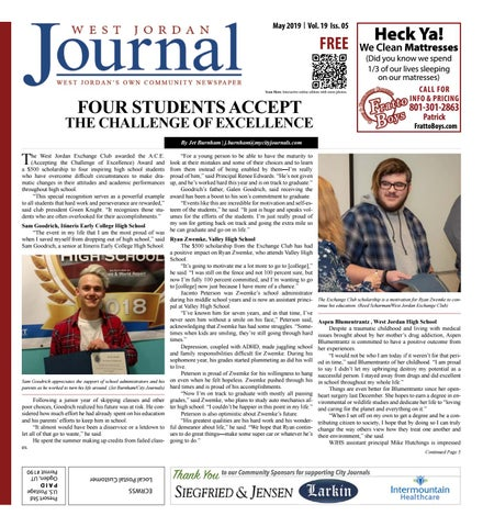 0fa2dc6bd44 West Jordan Journal May 2019 by The City Journals - issuu
