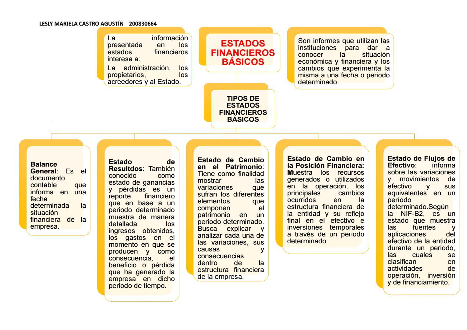 Organizador Gráfico Estados Financieros By Mariela Agustín