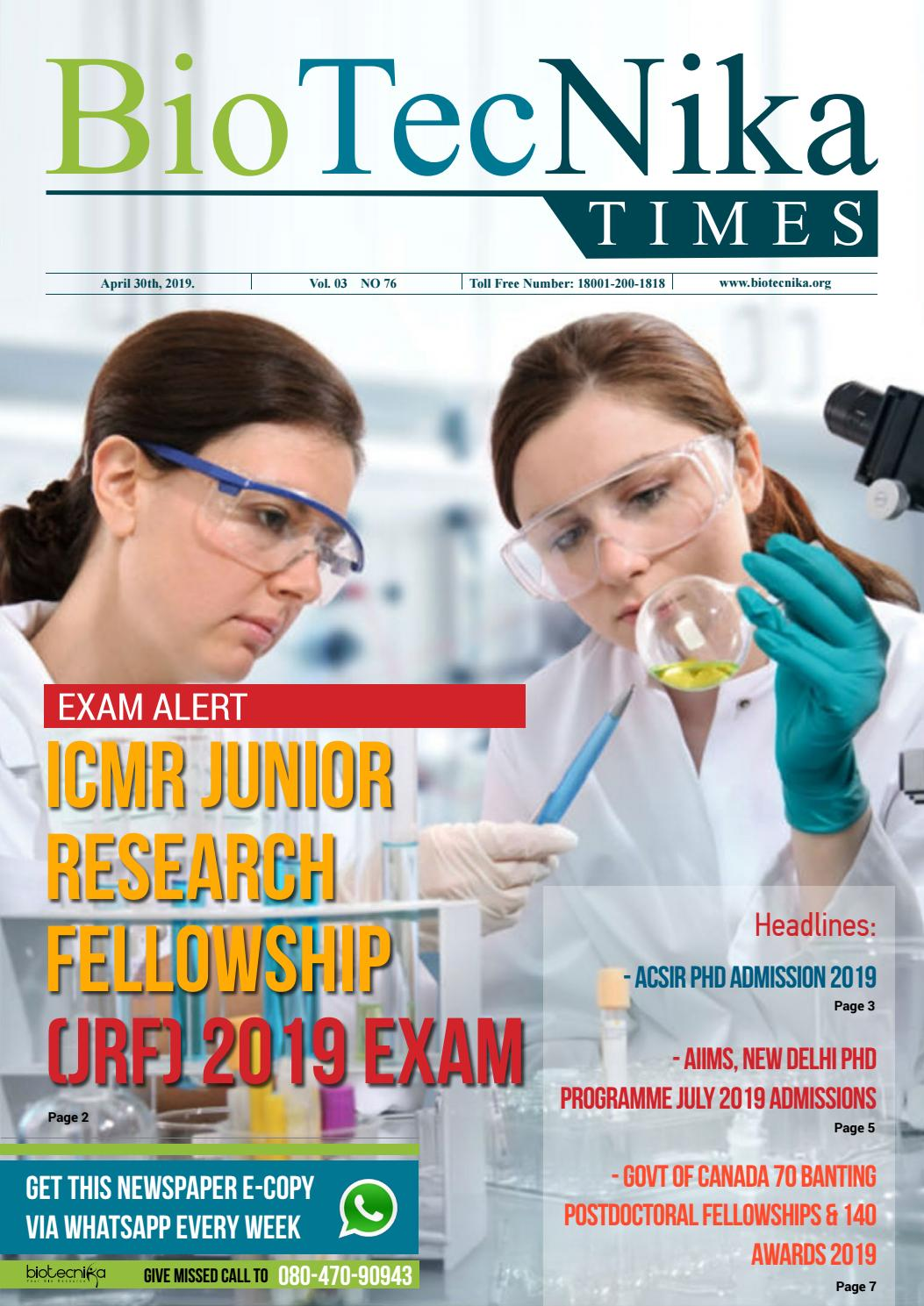 Biotecnika Times Newspaper 30th April 2019 Edition by
