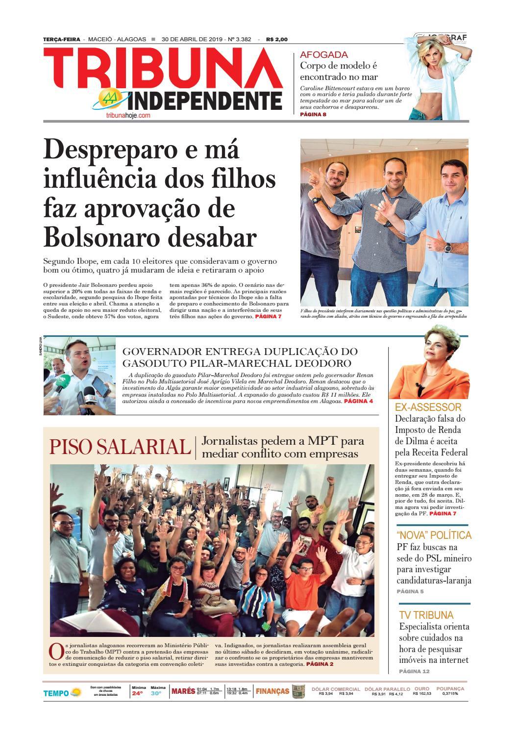 cfcb2b999 Edição número 3382 - 30 de abril de 2019 by Tribuna Hoje - issuu
