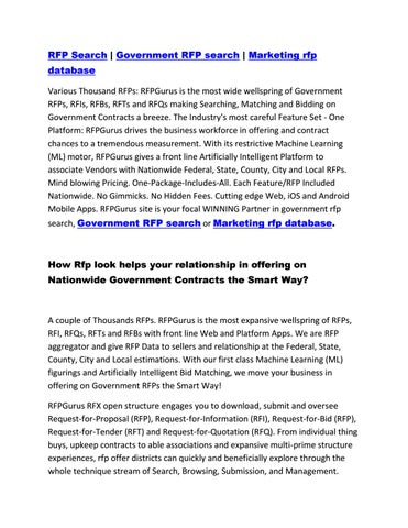 RFP Search | Government RFP search | Marketing rfp database by ahmad
