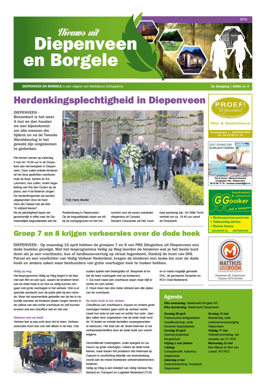 6fb0b28459eab8 DiepenveenBorgele Krant - april 2019 by Mediaburo Schoppema - issuu