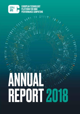 ETP4HPC 2018 Annual Report by ETP4HPC - issuu