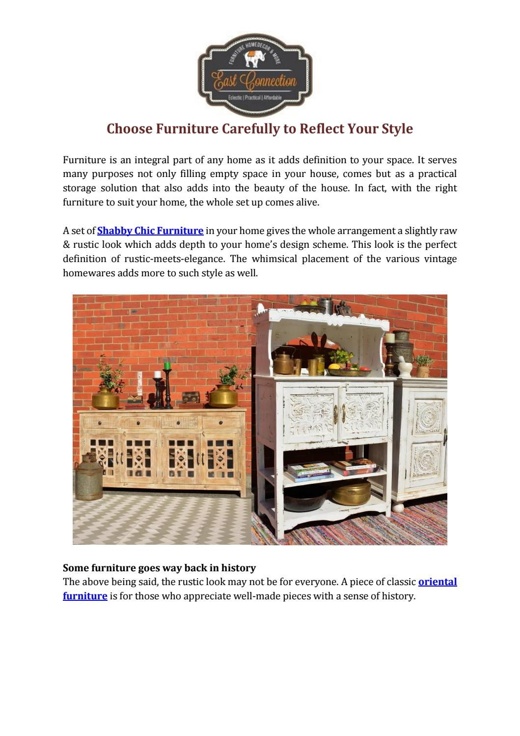 Choose Furniture Carefully to Reflect Your Style by East