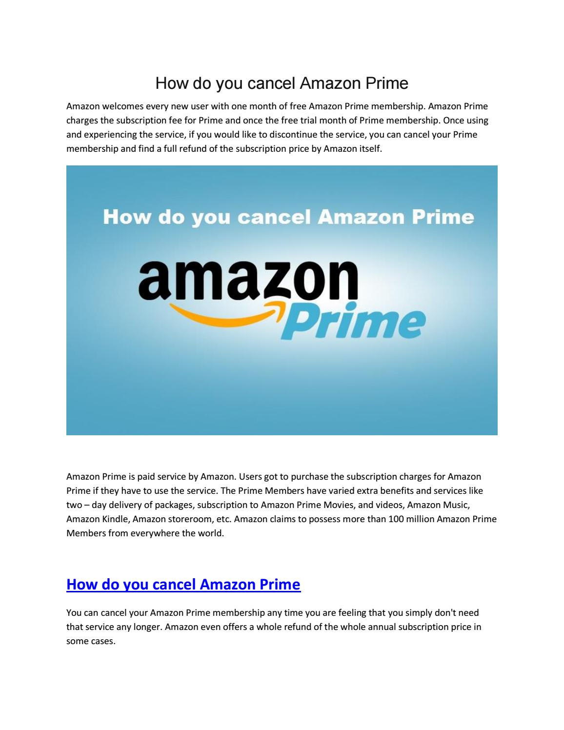 8a9957534d6247 How do you cancel Amazon Prime by Alex Townson - issuu