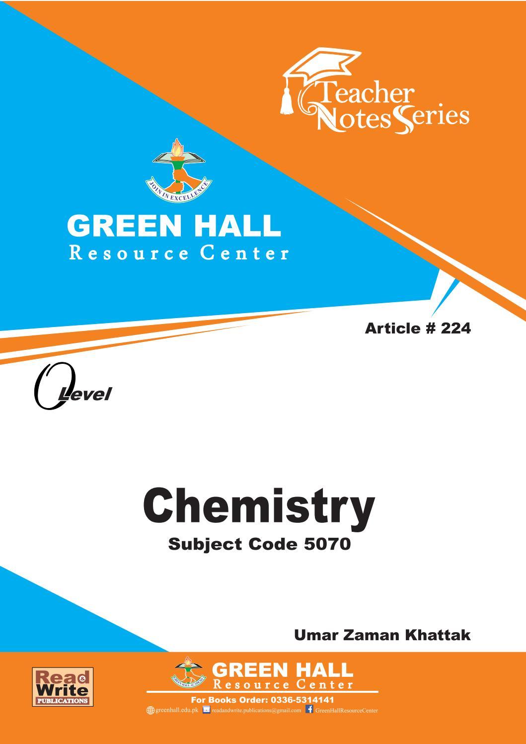 O Level Chemistry Notes by readandwrite marketing - issuu