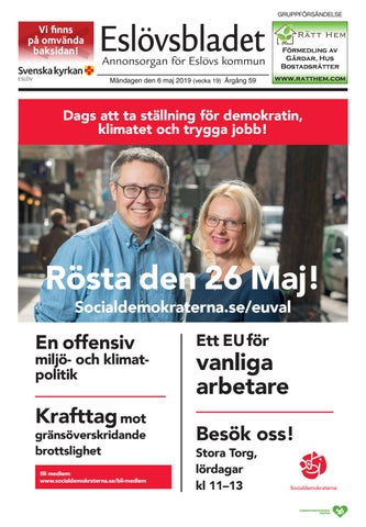 46684c00ee8 Eslövsbladet vecka 19 2019 by Krontryck - issuu