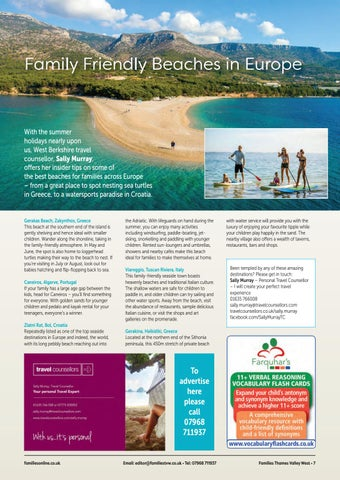 Page 7 of Family Friendly Beaches in Europe