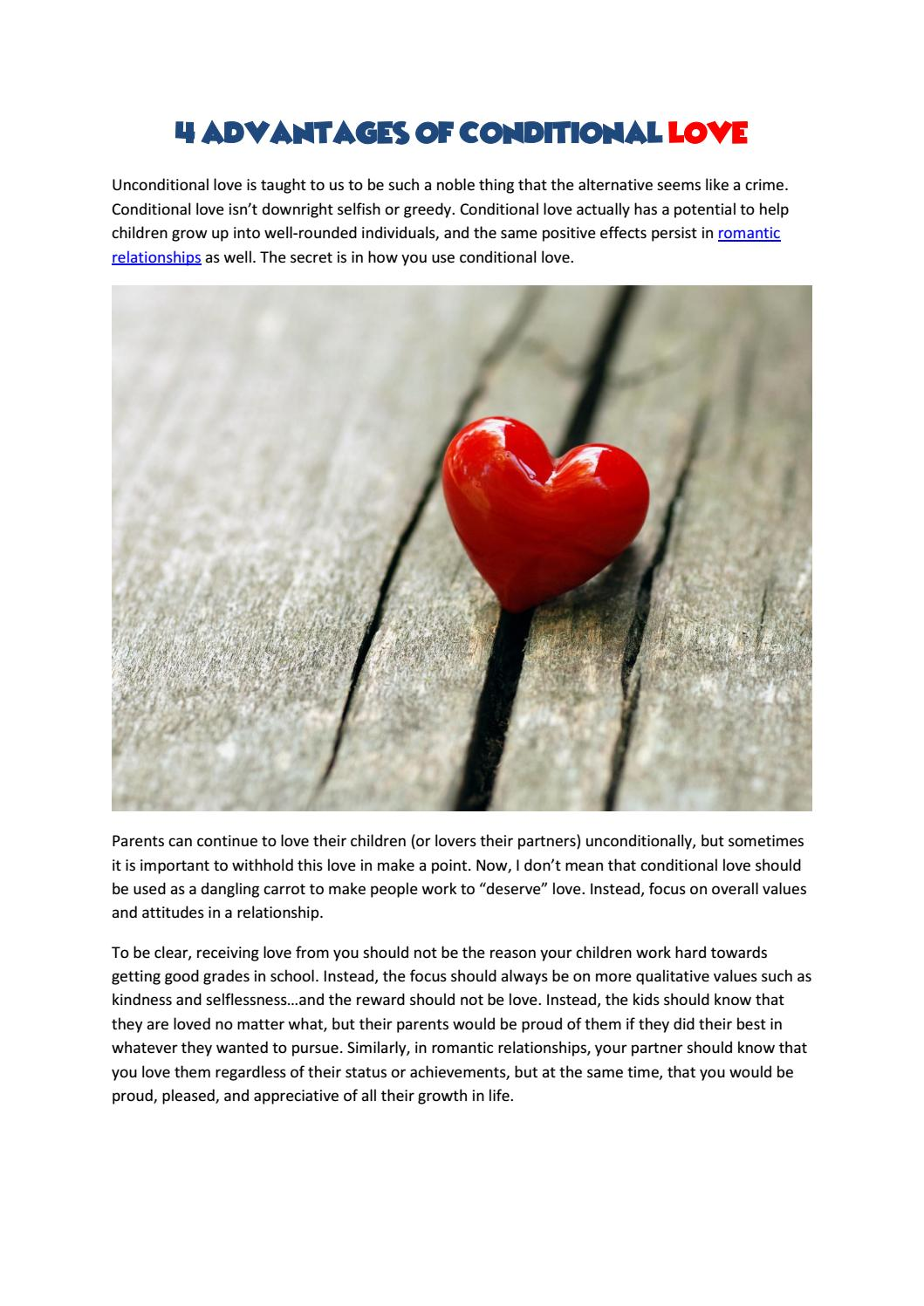 4 Advantages Of Conditional Love by Akash kumar - issuu