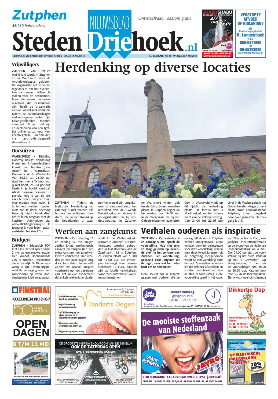 f75a290fe599bf Nieuwsblad Stedendriehoek Zutphen wk18-2019 by Uitgeverij Stedendriehoek -  issuu
