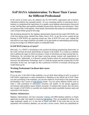 SAP HANA Admin Training PDF by sonaliaitsdm001 - issuu