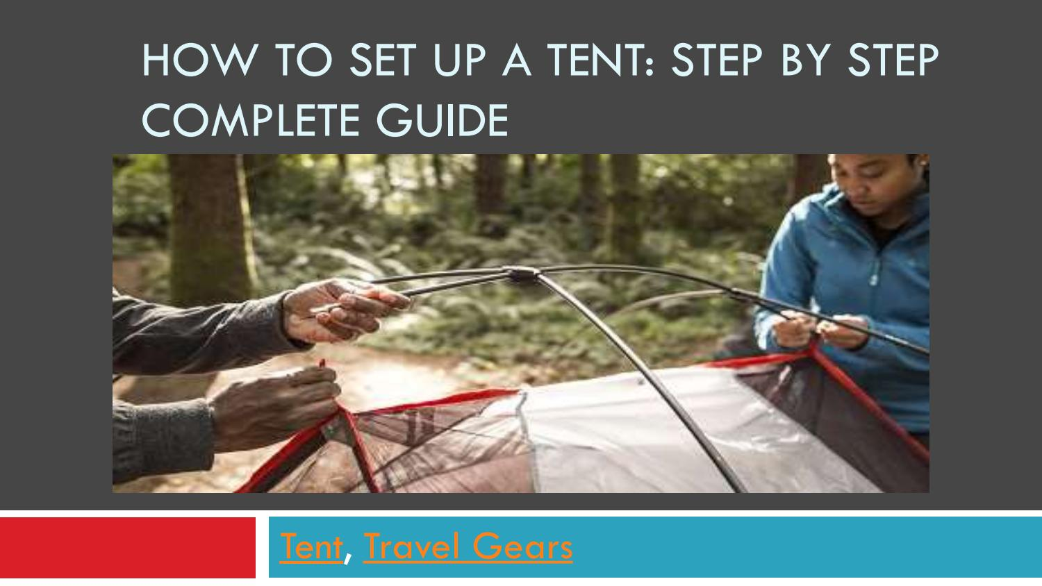 How to set up a tent by Shaib Montachir - issuu