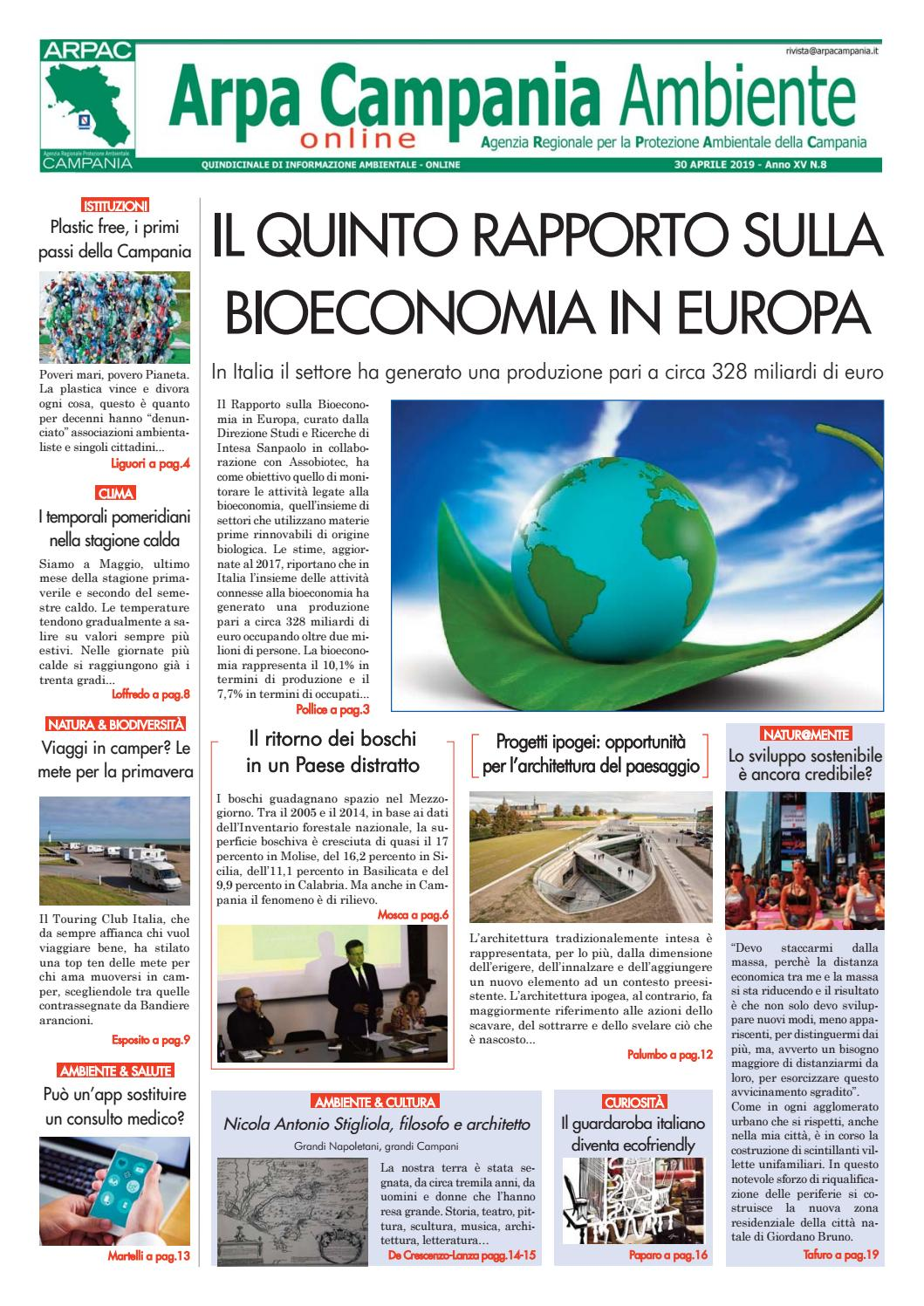 64a698c3a4f550 Arpa Campania Ambiente n. 8/2019 by Arpa Campania Servizio Comunicazione -  issuu