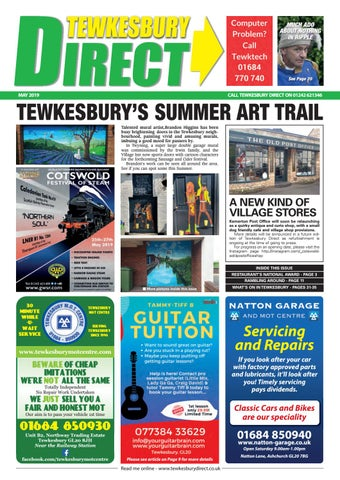 Tewkesbury Direct Magazine May 2019 By Tewkesbury Direct
