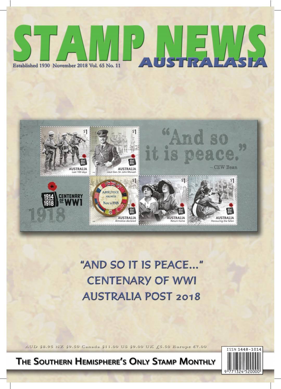Stamp News Australasia - November 2018 by Stamp News Australasia - issuu
