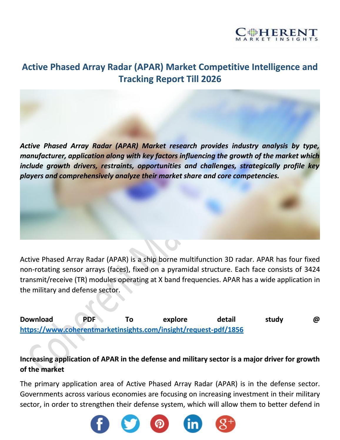 Active Phased Array Radar (APAR) Market by EmmaStevens - issuu