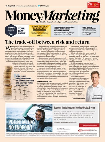 e581dccea0268 MoneyMarketing May 2019 by New Media Publishing B2B - issuu