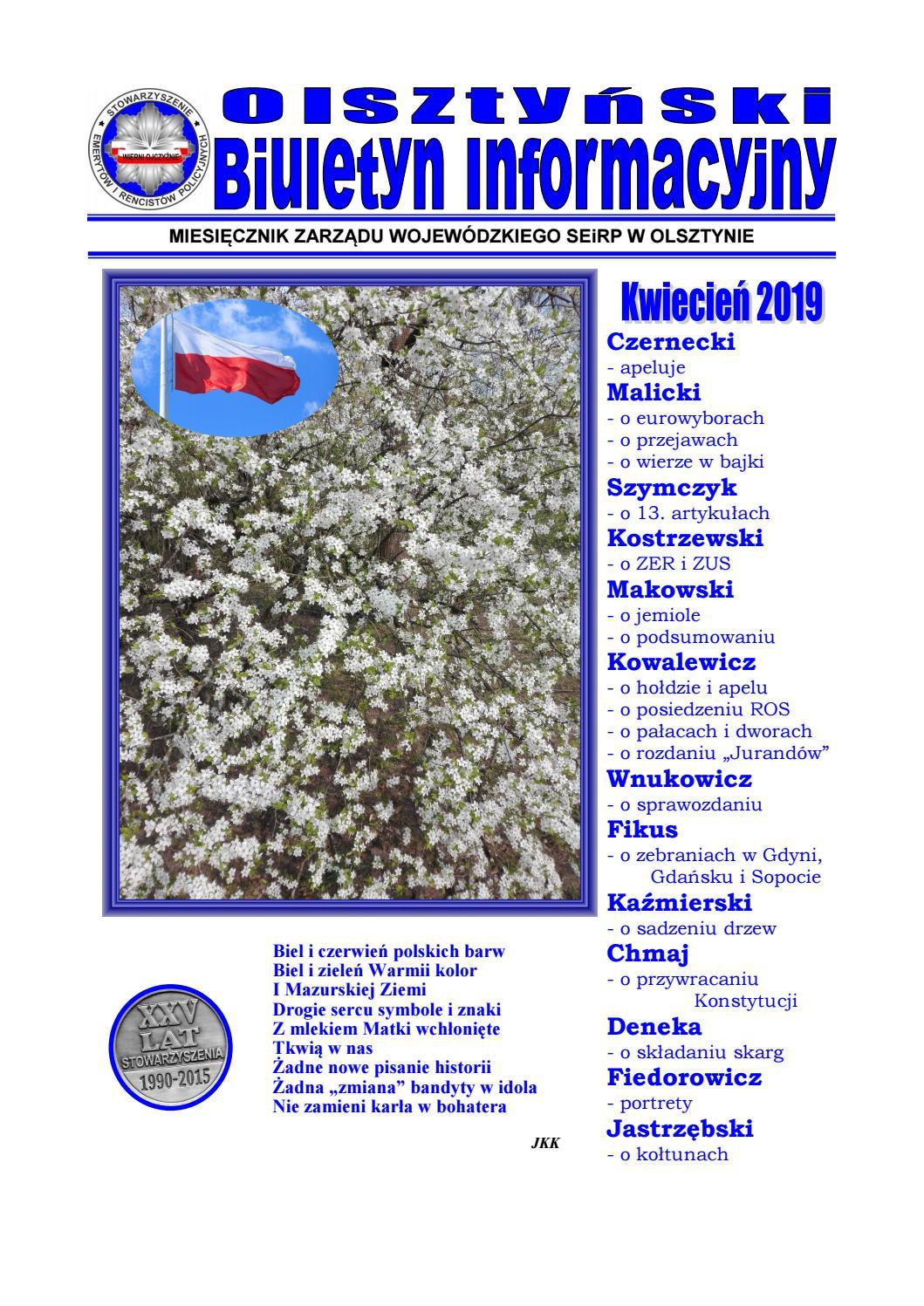 Olsztyński Biuletyn Informacyjny Zw Seirp Olsztyn Nr 108 By