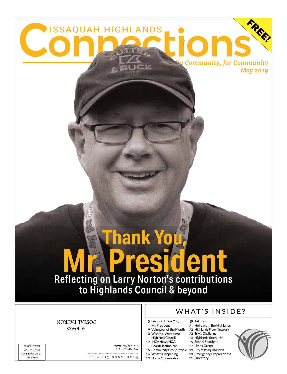 a3021b9dc5 May 2019 by Issaquah Highlands Connections - issuu