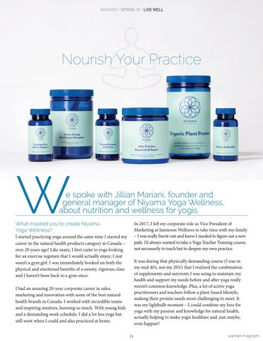 Page 13 of Nourish Your Practice