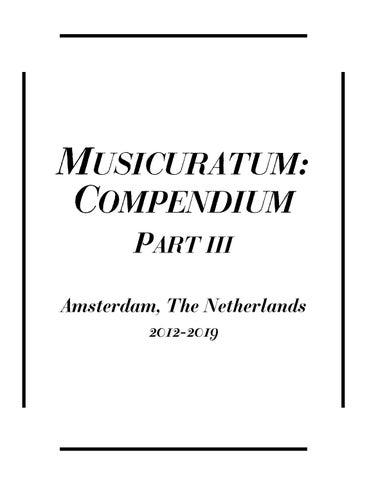 671500bf35ff7 MUSICURATUM  COMPENDIUM PART III Amsterdam