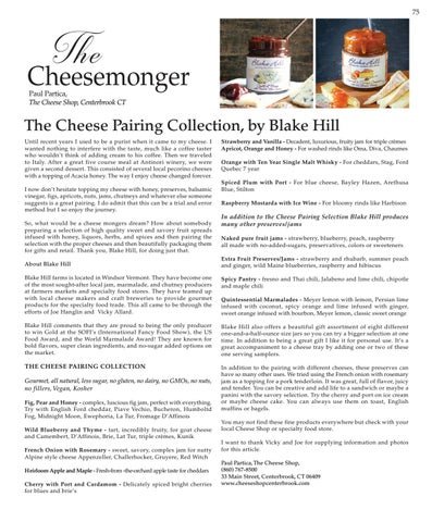 Page 75 of The Cheesemonger, The Cheese Pairing Collection, by Blake Hill