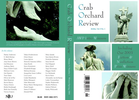 5c90c36b87bce Crab Orchard Review Vol 9 No 1 W/S 2004 by Crab Orchard Review - issuu
