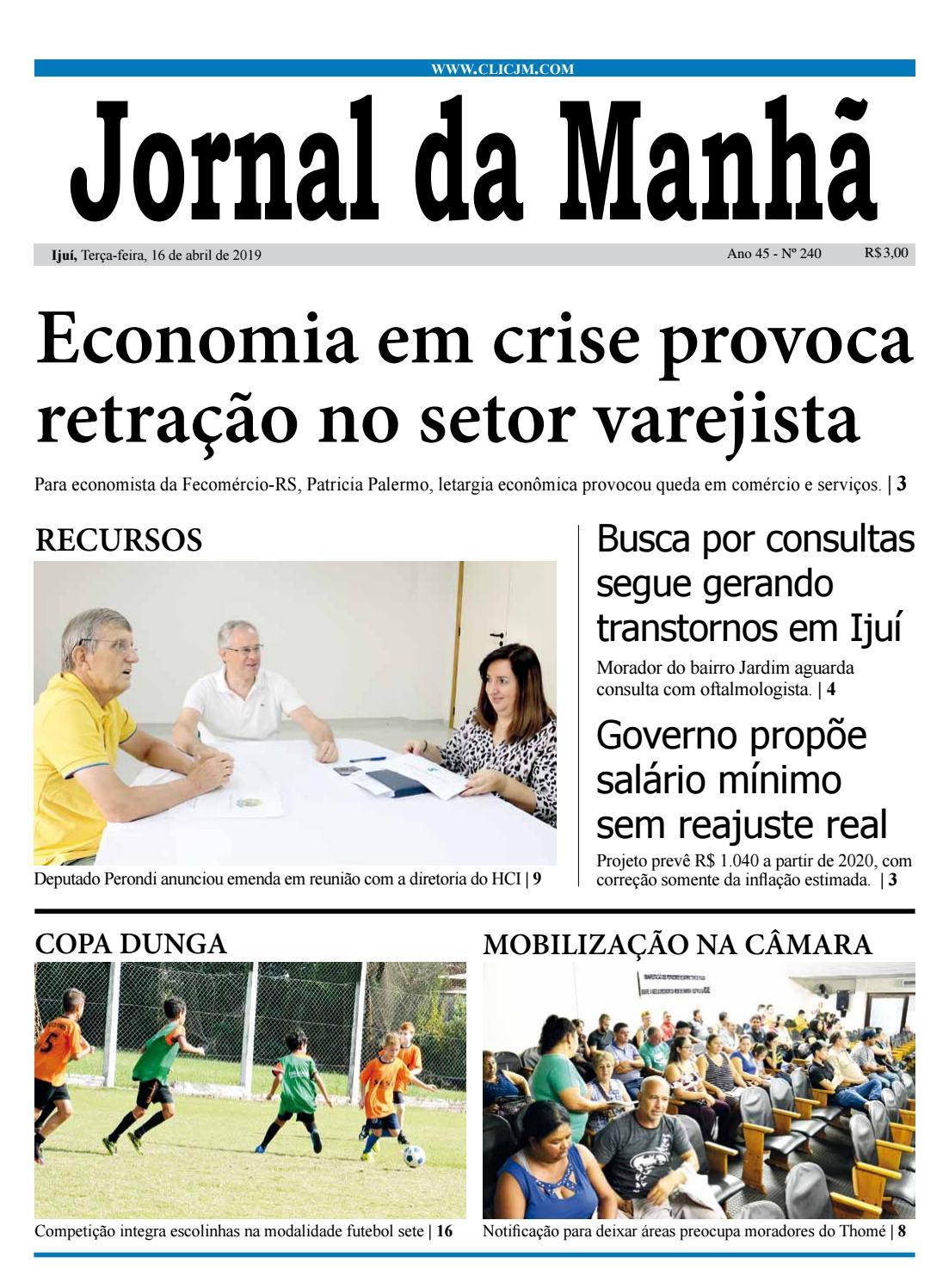 7e6d7274a Jornal da Manhã - Terça-feira - 16-04-2019 by clicjm - issuu