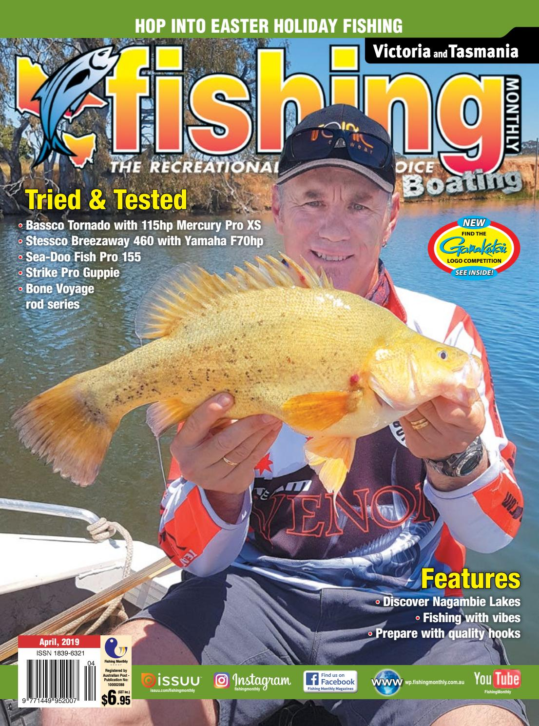 Victoria and Tasmania Fishing Monthly April 2019 by Fishing Monthly