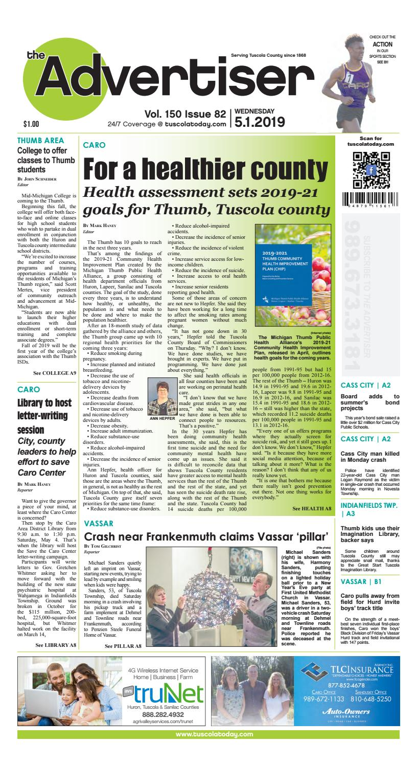 TCA 5-1-19 by Tuscola County Advertiser - issuu