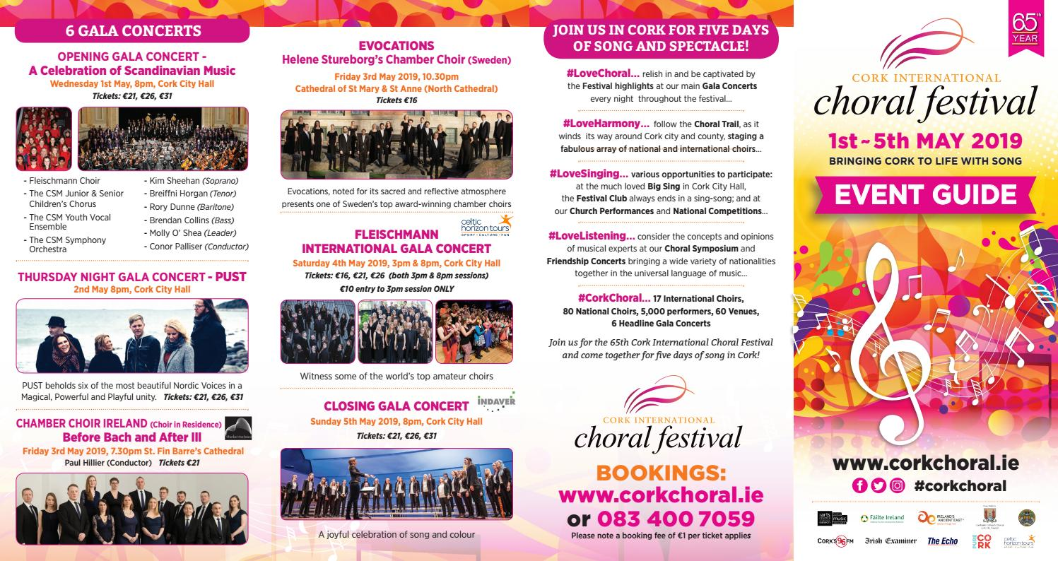 2019 Event Guide - Cork International Choral Festival by
