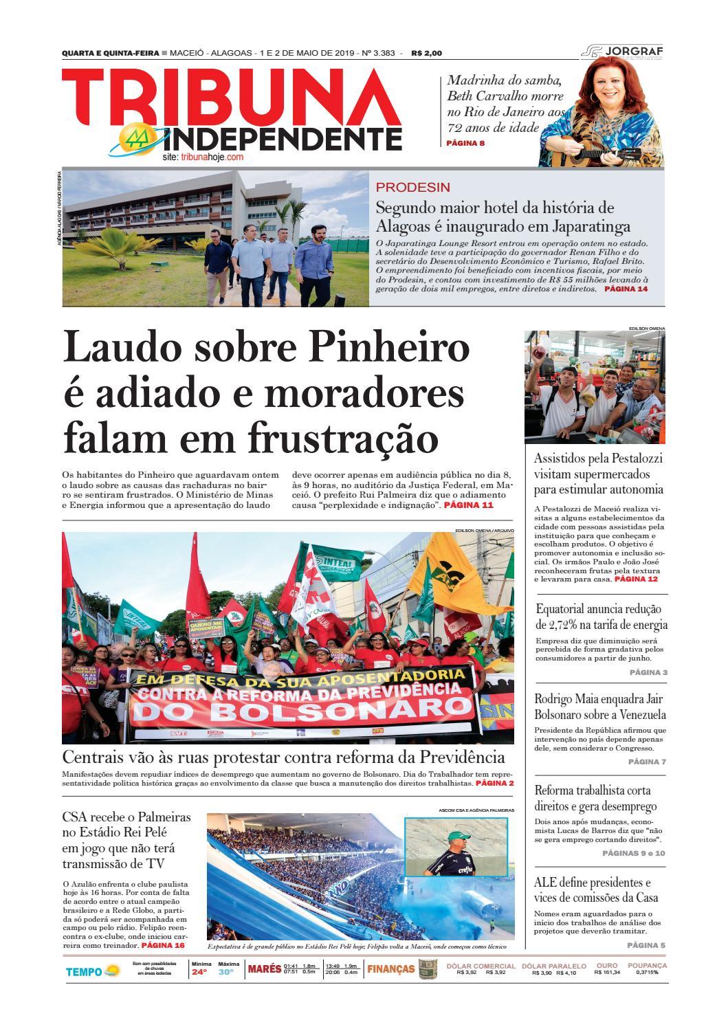 61c8eb0ae Edição número 3383 - 1 e 2 de maio de 2019 by Tribuna Hoje - issuu