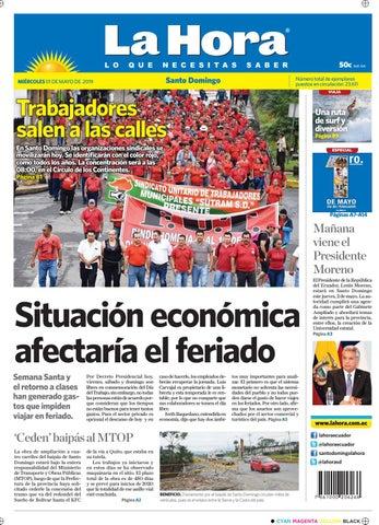 a6ac339e3 Santo Domingo 01 de mayo de 2019 by Diario La Hora Ecuador - issuu