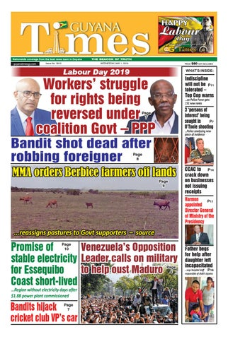 Guyana Times Wednesday May 1, 2019 by Gytimes - issuu