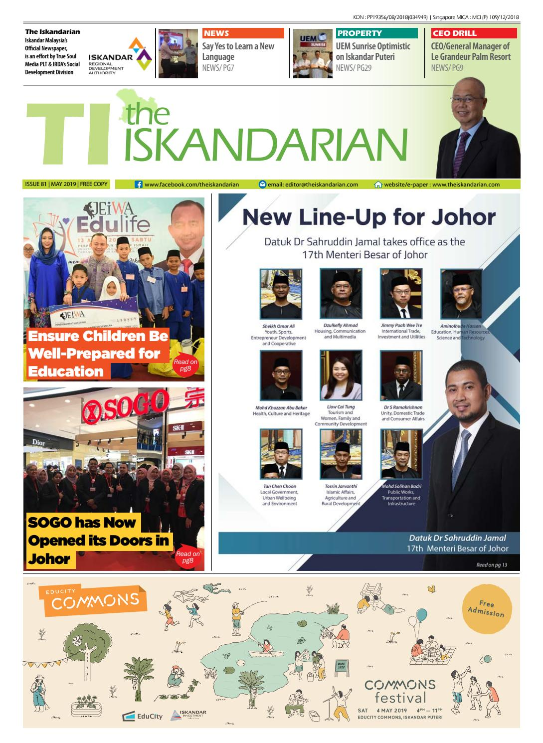 The Iskandarian E-Paper May 2019 by The Iskandarian-WAVES Lifestyle