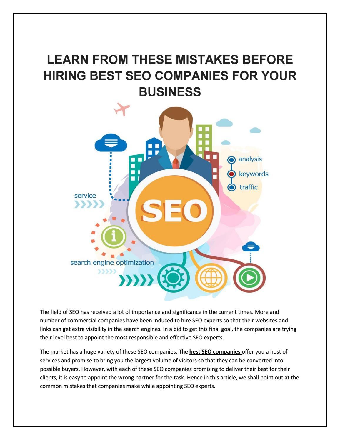 Why Some Companies Are Trying To Hire >> Learn From These Mistakes Before Hiring Best Seo Companies