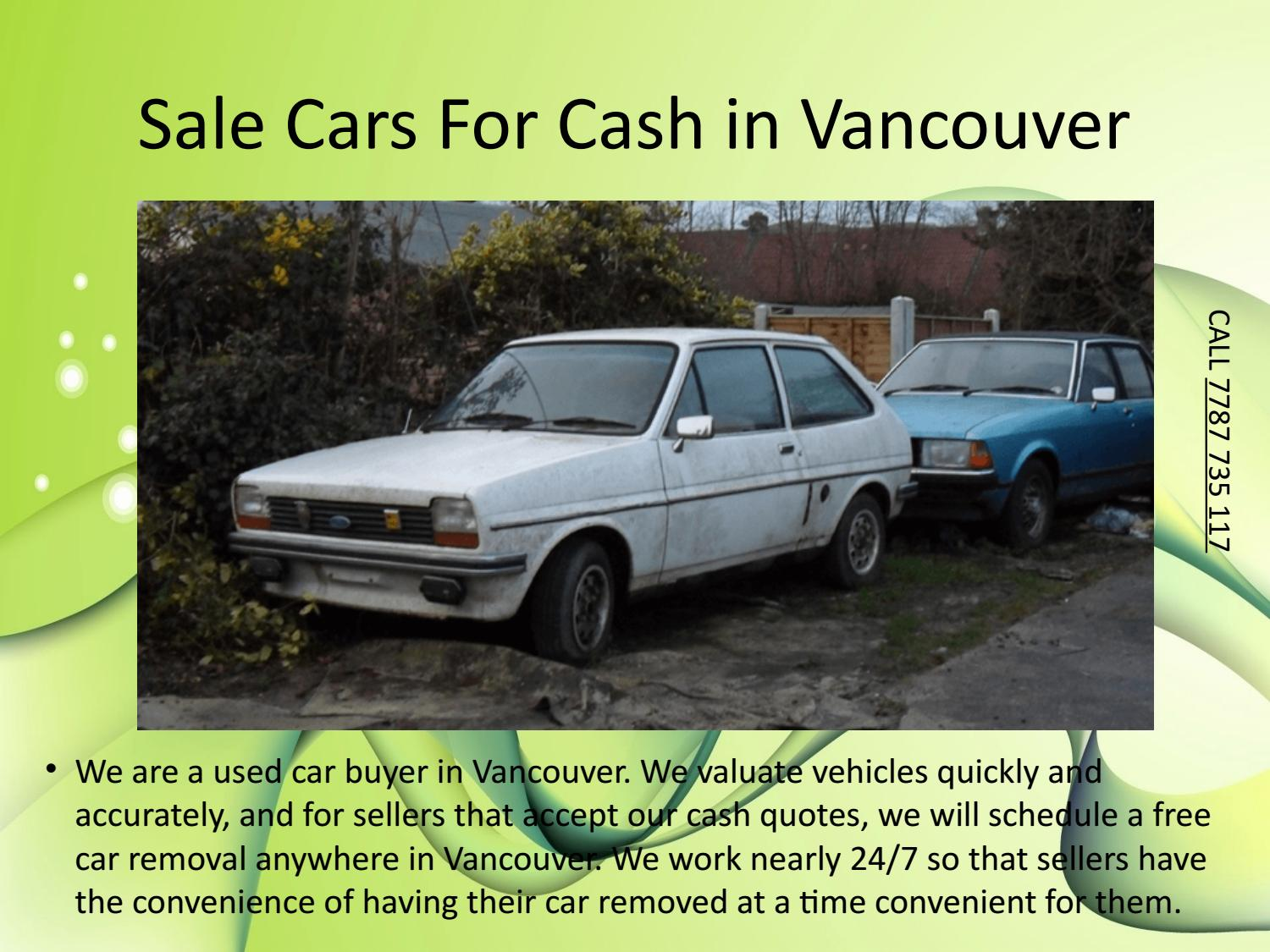 Cash For Cars Vancouver >> Sale Cars For Cash In Vancouver By Mega Cash For Cars