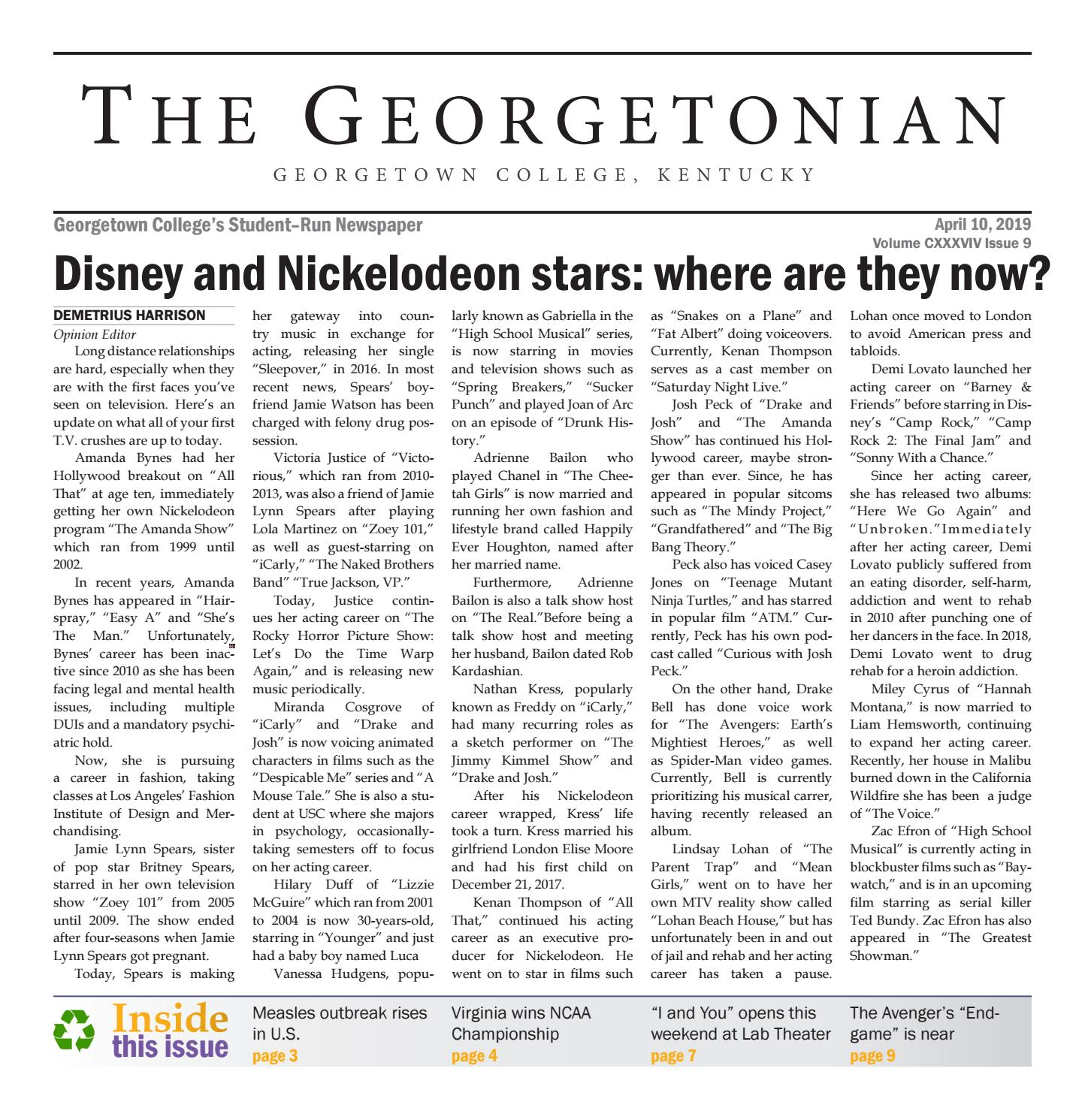 Georgetonian Issue 9 by The Georgetonian - issuu