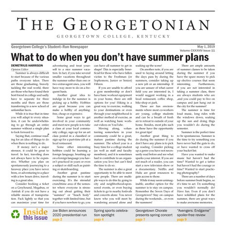 Georgetonian Issue 11 by The Georgetonian - issuu