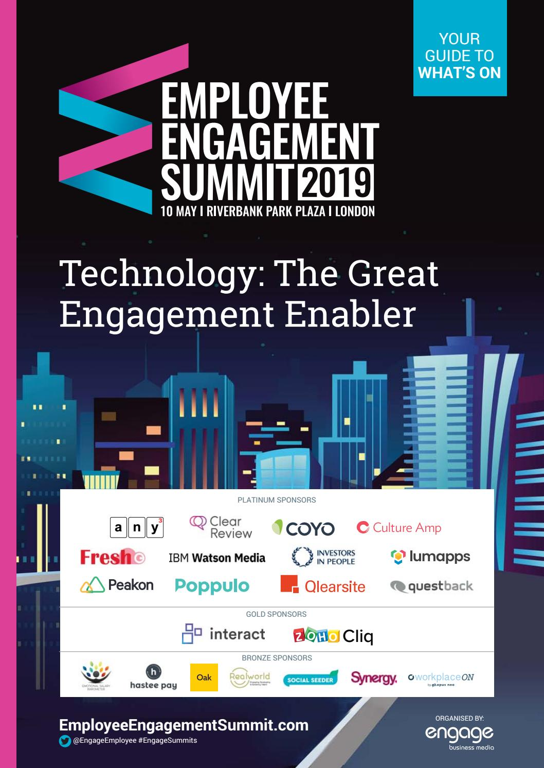 2019 Employee Engagement Summit 'Whats On' Guide by Engage Business