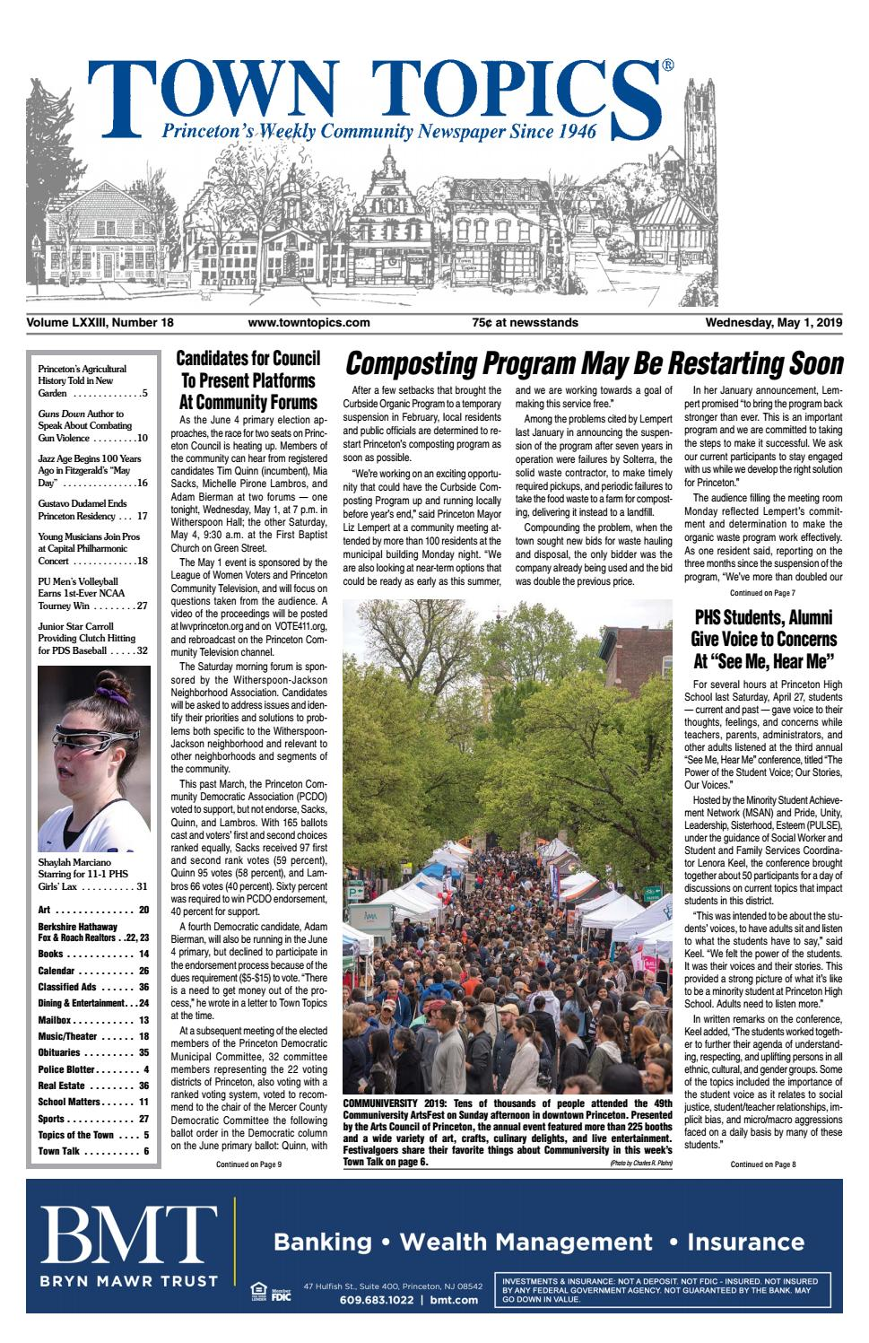 2671d5b4 Town Topics Newspaper, May 1 by Witherspoon Media Group - issuu