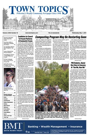 Town Topics Newspaper, May 1 by Witherspoon Media Group - issuu