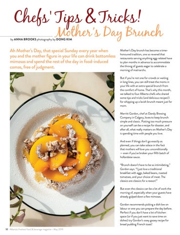 Page 10 of Chefs' Tips & Tricks! Mother's Day Brunch